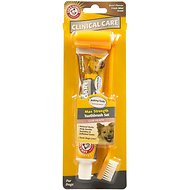 Arm & Hammer Dental Clinical Care Maximum Strength Plaque Cleaning Toothpaste & Brush Set Kit for Dogs