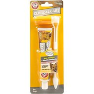 Arm & Hammer Dental Clinical Care Maximum Strength Plaque Cleaning Toothpaste & Three Sided Brush Set Kit for Dogs