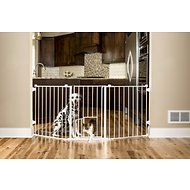 Carlson Pet Products Flexi Walk-Thru Gate with Pet Door