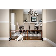 Carlson Pet Products Design Studio Freestanding Extra Wide Pet Gate, 20-inch