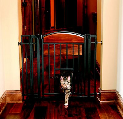 carlson pet products design studio metal walkthru gate with pet door chewycom