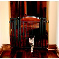 Carlson Pet Products Design Studio Metal Walk-Thru Gate with Pet Door