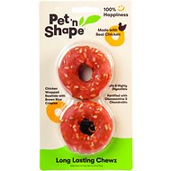 Pet 'n Shape Long Lasting Chewz Chicken Rings Dog Treats, 2-pack rings