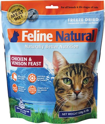 Feline Natural Chicken Venison Feast Raw Freeze Dried Cat Food