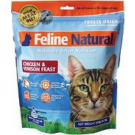 Feline Natural Chicken & Venison Feast Raw Grain-Free Freeze-Dried Cat Food, 0.77-lb bag