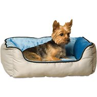 K&H Pet Products Self-Warming Two Tone Lounge Sleeper Pet Bed, Gray/Blue