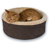 K&H Pet Products Thermo-Kitty Cat Bed, Mocha, Small
