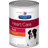 Hill's Prescription Diet h/d Heart Care with Chicken Canned Dog Food, 13-oz, case of 12
