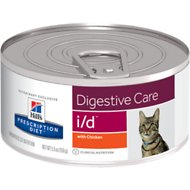 Hill's Prescription Diet i/d Digestive Care with Chicken Canned Cat Food, 5.5-oz, case of 24