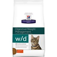 Hill's Prescription Diet w/d Digestive/Weight Management with Chicken Dry Cat Food, 17.6-lb bag