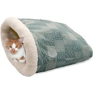 K&H Pet Products Kitty Crinkle Sack Cat Bed, Teal