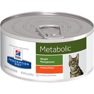 Hill's Prescription Diet Metabolic Weight Management Chicken Flavor Canned Cat Food, 5.5-oz, case of 24