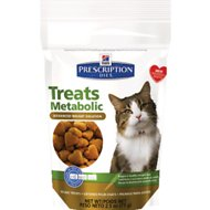 Hill's Prescription Diet Feline Metabolic Advanced Weight Solution Cat Treats, 2.5-oz bag