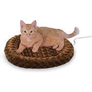 K&H Pet Products Thermo-Kitty Fashion Splash Cat Bed, Mocha