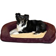 K&H Pet Products Deluxe Ortho Bolster Sleeper Pet Bed, Eggplant, Large