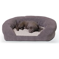 K&H Pet Products Ortho Bolster Sleeper Pet Bed, Gray, Medium