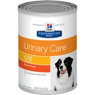 Hill's Prescription Diet c/d Multicare Urinary Care Chicken Flavor Canned Dog Food, 13-oz, case of 12
