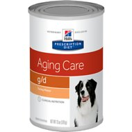 Hill's Prescription Diet g/d Aging Care Turkey Flavor Canned Dog Food, 13-oz, case of 12