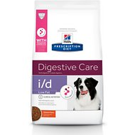 Hill's Prescription Diet i/d Digestive Care Low Fat Chicken Flavor Dry Dog Food, 17.6-lb bag