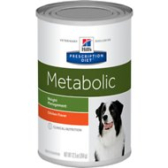 Hill's Prescription Diet Metabolic Weight Management Chicken Flavor Canned Dog Food, 13-oz, case of 12