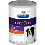 Hill's Prescription Diet u/d Urinary Care Chicken Flavor Canned Dog Food, 13-oz, case of 12