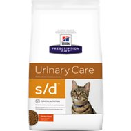 Hill's Prescription Diet s/d Urinary Care Chicken Flavor Dry Cat Food, 4-lb bag
