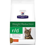 Hill's Prescription Diet r/d Weight Reduction Chicken Flavor Dry Cat Food, 17.6-lb bag