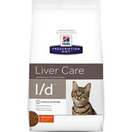 Hill's Prescription Diet l/d Liver Care Chicken Flavor Dry Cat Food, 4-lb bag