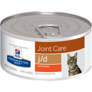 Hill's Prescription Diet j/d Joint Care with Chicken Canned Cat Food, 5.5-oz, case of 24