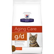 Hill's Prescription Diet g/d Feline Early Cardiac - Healthy Aging Dry Cat Food, 4-lb bag