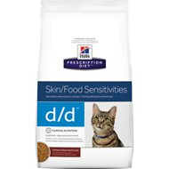 Hill's Prescription Diet d/d Skin/Food Sensitivities Venison & Green Pea Formula Dry Cat Food, 8.5-lb bag