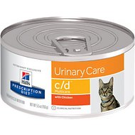 Hill's Prescription Diet c/d Multicare Urinary Care with Chicken Canned Cat Food, 5.5-oz, case of 24
