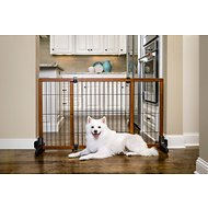 Carlson Pet Products Design Studio Freestanding Extra Wide Pet Gate, 28-inch