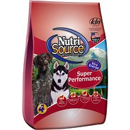 NutriSource Super Performance Chicken & Rice Formula Dry Dog Food, 40-lb bag