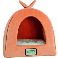 Armarkat Pet Bed Cave Shape, Orange/Ivory