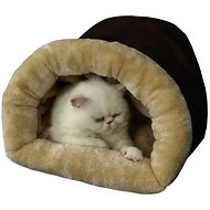 Armarkat Burrow Cat Bed, Mocha/Beige