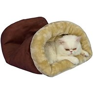 Armarkat Burrow Cat Bed, Red/Beige