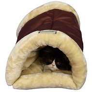 Armarkat Burrow Multiple Use Cat Bed/Mat, Red/Beige