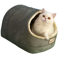 Armarkat Pet Bed Cave Shape, Sage Green/Beige