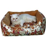 Armarkat Pet Bed Rectangle, Rose/Sandy Brown, Medium