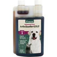 NaturVet ArthriSoothe GOLD Hip & Joint Level 3 Advanced Formula Dog & Cat Liquid Supplement, 32-oz bottle