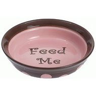 PetRageous Designs Sassy Girl Feed Me Shallow Pet Dish, 1.5-cups