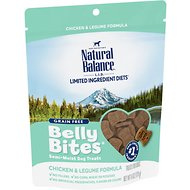 Natural Balance Belly Bites Chicken & Legume Formula Grain-Free Dog Treats, 6-oz bag
