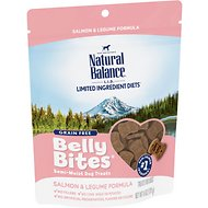 Natural Balance Belly Bites Salmon & Legume Formula Grain-Free Dog Treats, 6-oz bag