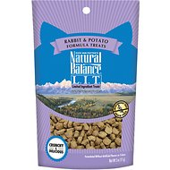 Natural Balance L.I.T. Limited Ingredient Treats Rabbit & Potato Formula Cat Treats, 2-oz bag