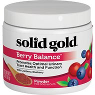 Solid Gold Supplements Berry Balance Urinary Tract Health Powder Dog & Cat Supplement, 3.5-oz jar