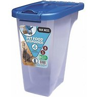 Van Ness Pet Food Storage Dispenser, 4-lb storage