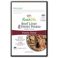 PureVita Beef Liver & Sweet Potato Freeze-Dried Dog Treats, 3-oz bag