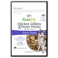 PureVita Chicken Giblets & Sweet Potato Freeze-Dried Dog Treats, 3-oz bag