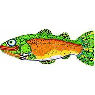 Fat Cat Incredible Strapping Yankers Trout Dog Toy, Color Varies